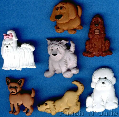 Dog Pup Doggy Show Animal Pet Novelty Dress It Up Craft Buttons PUPPY PARADE