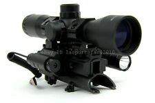 SKS 4x32 Range Finder Scope w/Tri-rail Mount, Red Laser & LED Flashlight Combo