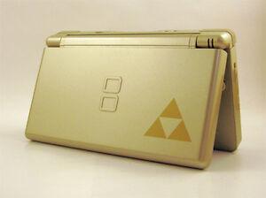 Nintendo-DS-Lite-Full-Replacement-Housing-Shell-Screen-Lens-Zelda-Triforce-US