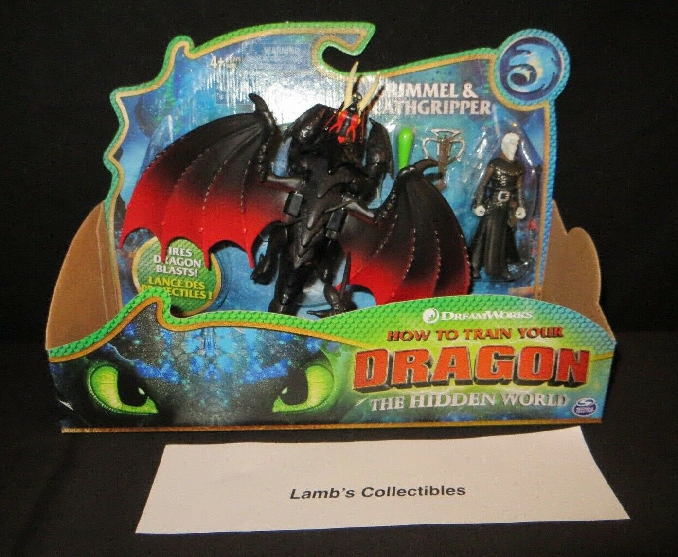 How to train your Dragon 3 The Hidden World Grimmel & Deathgrip dragon figures