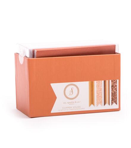 """Sparkle /& Co Paperie 4.25/"""" x 5.5/"""" A2 Cards Envelopes Copper Solids Set Kit Ms"""