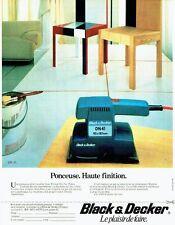 PUBLICITE ADVERTISING 0217  1984  Black & Decker   a ponceuse DN41
