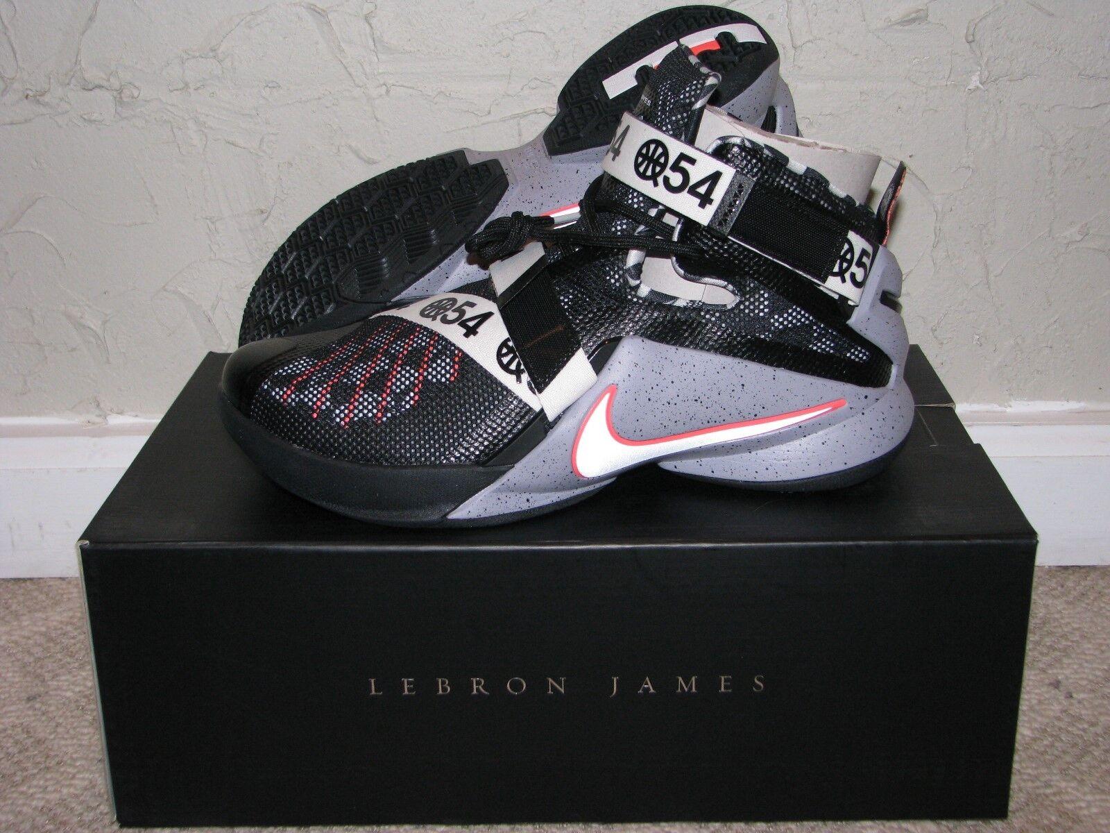 Nike lebron soldat ix 9 begrenzte quai 54 blk blk blk / wht mens größe 10 ds neu!james 2b0722