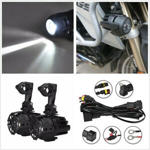 2-Pcs-Motorcycle-Bike-LED-Head-Fog-Driving-Light-40W-For-BMW-R1200GS-ADV-F800GS