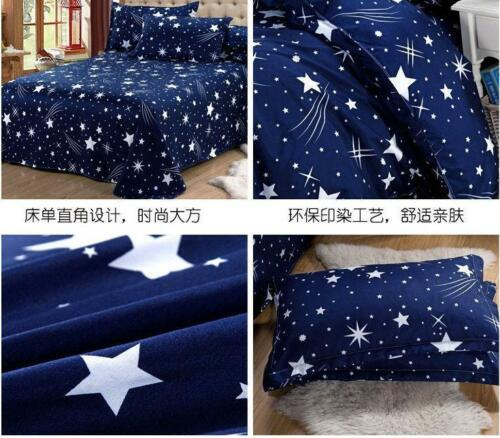 3D Printed Duvet Quilt Cover Pillowcases Bedding Set Queen Size Meteor Shower