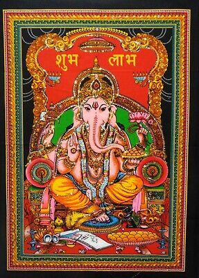 Brush Paint Indian Lord Shiva Ashirwad Mudra Wall Hanging Tie Dye Yoga Poster