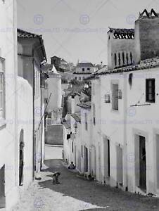 Vintage-Foto-Paisaje-Urbano-Calle-Portalegre-Portugal-cartel-Art-Print-BB12298B
