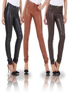 Ex-H-amp-M-Ladies-Womens-Leather-Look-amp-Cloth-Leggings-Wet-Look-Trousers-Pants