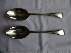 VINTAGE-SILVER-PLATED-SERVING-SPOONS-X-2-OLD-ENGLISH-F-HOWARD-SHEFFIELD-22cm