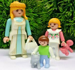 Playmobil-Mutter-mit-Kind-und-Kleinkind-mit-Katze-Kaetzchen-Puppenhaus-City-P9