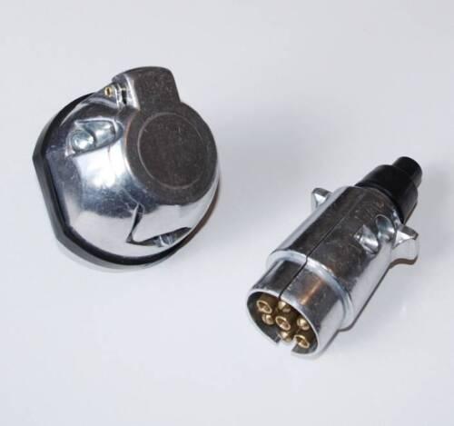 Towing Electrics 7 Pin Plug /& Socket 12N Tipo De Aluminio Remolque Caravan
