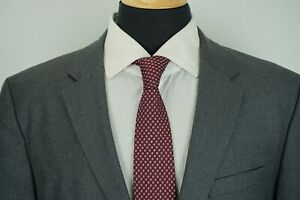 Hugo-Boss-The-Grand-Central-Modern-Recent-Gray-Textured-Wool-2-Pc-Suit-Sz-42R