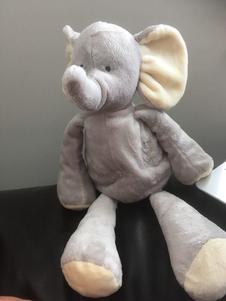 M&S My First Elephant Grey plush Marks & Spencer 16  Soft cuddly Toy 6569 419