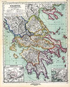 1903 old antique map of ancient world empire greece city state image is loading 1903 old antique map of ancient world empire gumiabroncs