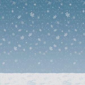 30ft frozen snowflake winter wall mural christmas scene