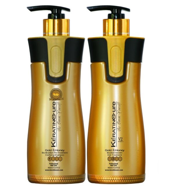 Kera 24 K Gold Brazilian Keratin Treatment Kit 2 Oz 60 Ml For Sale Online Ebay