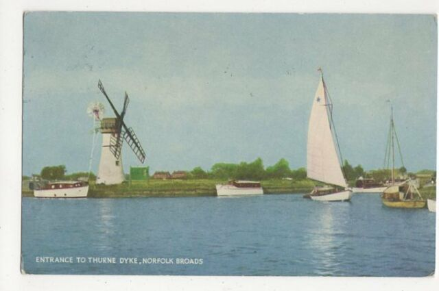 Entrance To Thurne Dyke Norfolk Broads 1957 Postcard 284a