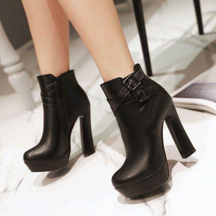 les bottes des chaussures en cuir 12,5 talon 12,5 cuir noir comme chauds 8282 b5cb8e