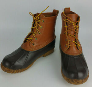 Details about CABELAS Brown Leather & Rubber Winter Rain Muck Duck Boots  Mens 10 Thinsulate