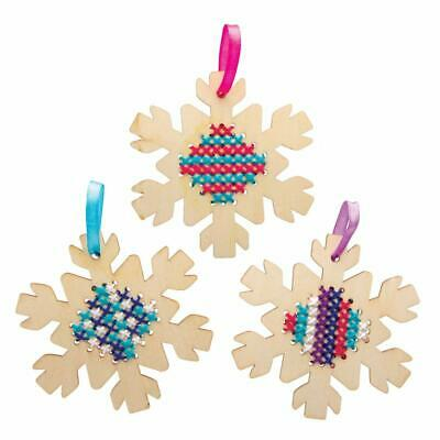 Beginners SEWING Design 5 Wooden KEYRING Cross Stitch Kids Craft Activity Age 5