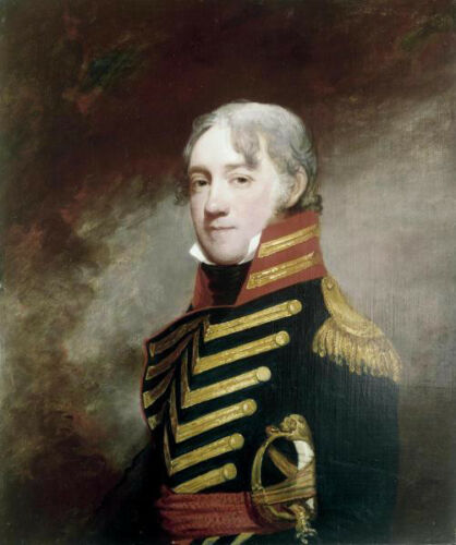 General Fenwick Gilbert Stuart Patriotic History Military Print Poster 27x32