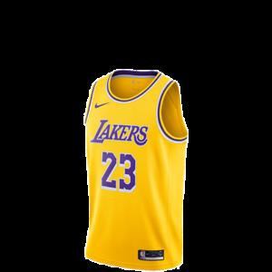 Nike Nba Lebron James Lakers Icon Swingman Yellow Men S Jersey 2019 Aa7099 741 Ebay