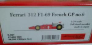Model Factory Hiro 1 24 Ferrari 312 F1-69 Francés Gp N º 6 Completo Detail Kit