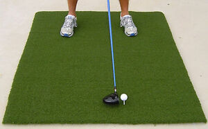Golf Tee Mat Monster Thick Turf 48 X 60 Rubber Practice