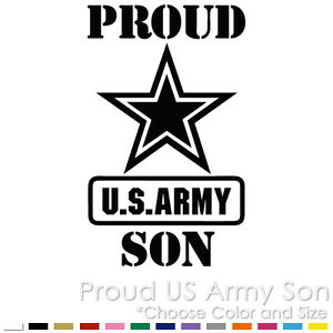 Proud Air Force Son Military Solider Decal