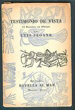 LUIS SEOANE BOOK TESTIMONIO DE VISTAS 33 RETRATOS EN DIBUJOS SIGNED VERY RARE