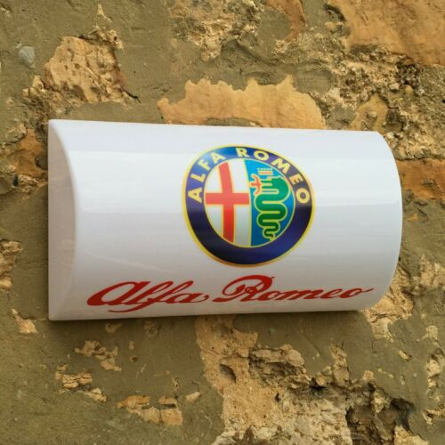 ALFA ROMEO 1982-2015 BADGE LED ILLUMINATED WALL LIGHT SIGN GARAGE AUTOMOBILIA