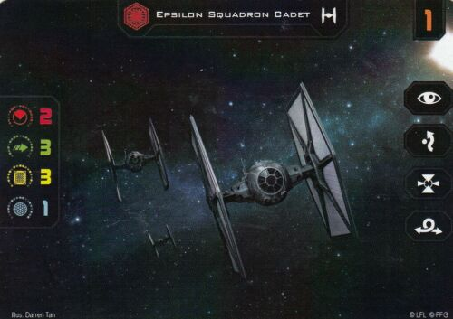 Epsilon Squadron Cadet Alt Art Promo Card Star Wars X-Wing 2.0