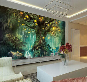 enchanted fantastic tree full wall mural photo wallpaper print homeimage is loading enchanted fantastic tree full wall mural photo wallpaper