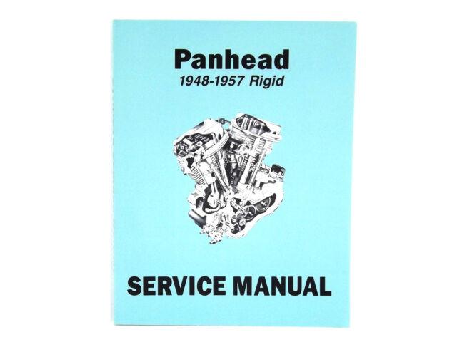 WORKSHOP SERVICE MANUAL FOR HARLEY PANHEAD FL 1948-1957 RIGID FRAME OLD SCHOOL