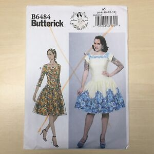 BUTTERICK-B6484-Gertie-s-Retro-Pin-Up-Dress-Sewing-Pattern-Out-of-Print-OOP