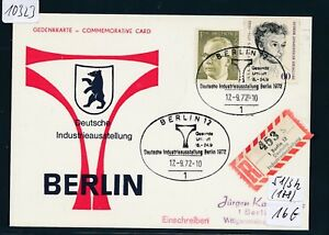 10323) Spécial R-ticket De Berlin Industrie Allemande Exposition, So-kte 17.9.72-ellung, So-kte 17.9.72fr-fr Afficher Le Titre D'origine