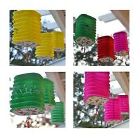 Package Of 3 Square Asian Style Chinese Fan Lanterns Hanging Multi Color