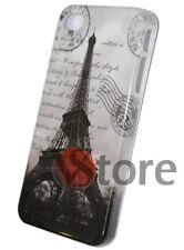 Cover Custodia Rigida Per iPhone 4 4S Pariggi Tour Eiffel Mail Pellicola Display