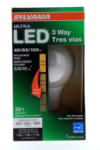 Sylvania LED 3 Way 120 volts 15 watts 2700K Medium Base