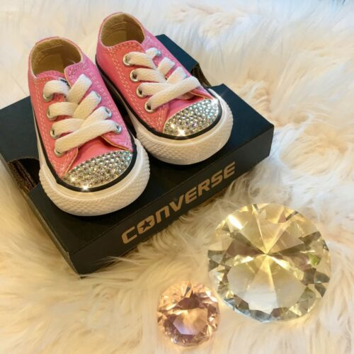 Bling Converse All Star Chuck Taylor Infant Toddler Shoes w// Swarovski Crystals
