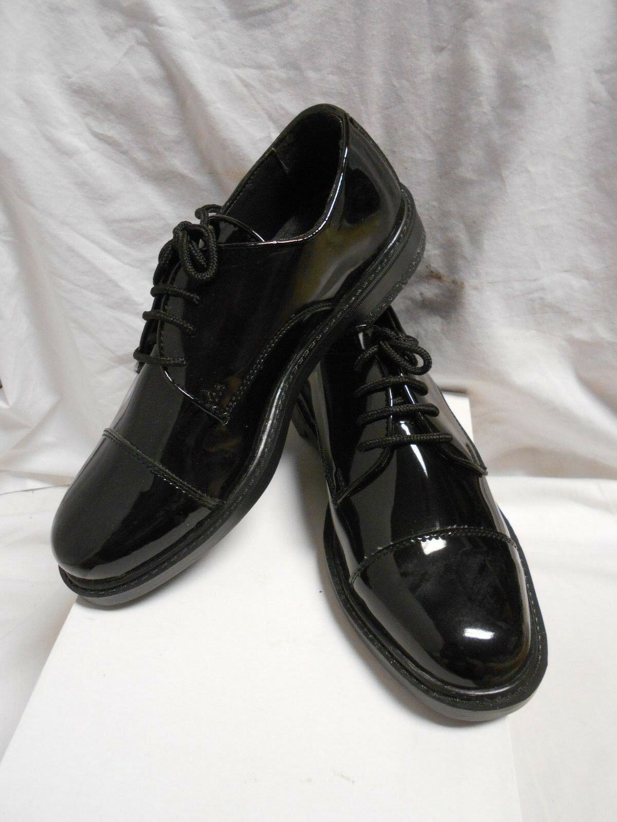 NWB Men's Black Oxford Patent Leather Cap Toe Oxford Black  Formal Wear Shoes Size 8M fdc7c5