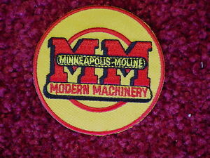 2 MM MINNEAPOLIS MOLINE TRACTOR LOGO PATCHES
