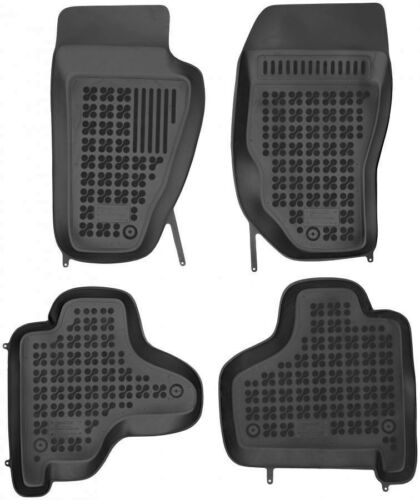 4-teilige schwarze Gummifußmatte für JEEP Cherokee KK Bj 2007-2012