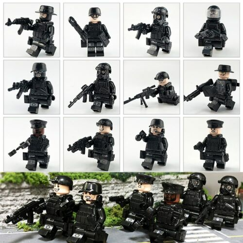 12PCS Police SWAT Army with Weapons Guns etc Mini Figures fit AU SELLER