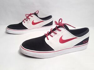 bd694823320c EUC Nike iD SB Zoom Stefan Janoski Black White Red Canvas Skateboard ...