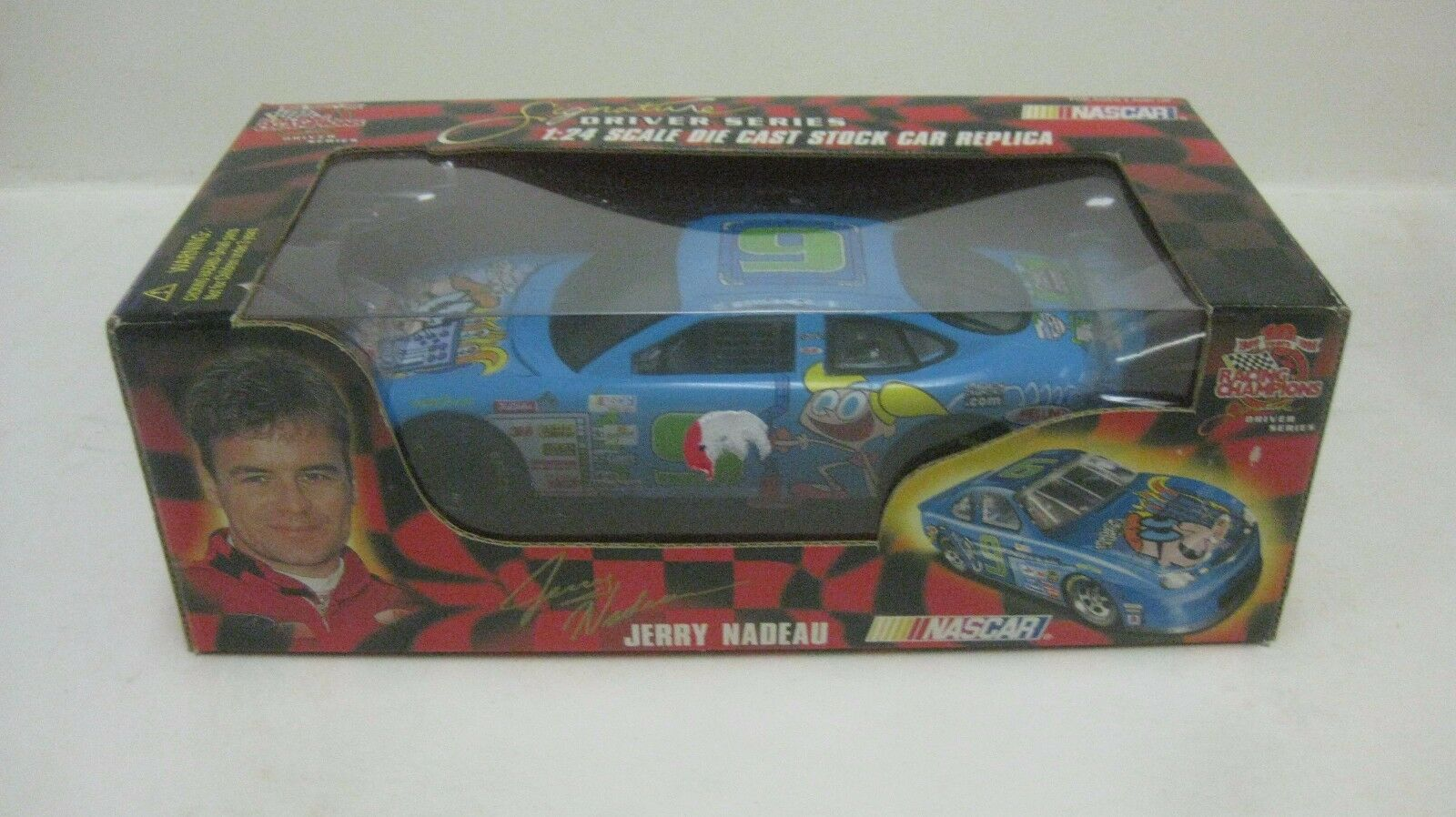 Nascar Jerry Nadeau Cartoon Network Stier 1 24 Skala-Modelle 1999 Neu dc1722