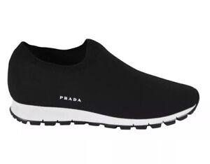 Prada Men's Black White Stretch Sport