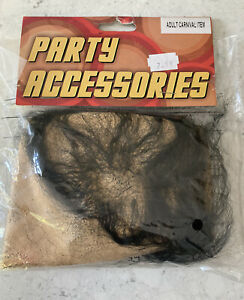 FREE POSTAGE Bald Cap with Black Sparse Hair for HALLOWEEN