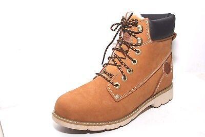 Dockers Stiefeletten Stiefel Boots Damen warm gefüttert Leder gelb, weiße Sohle | eBay