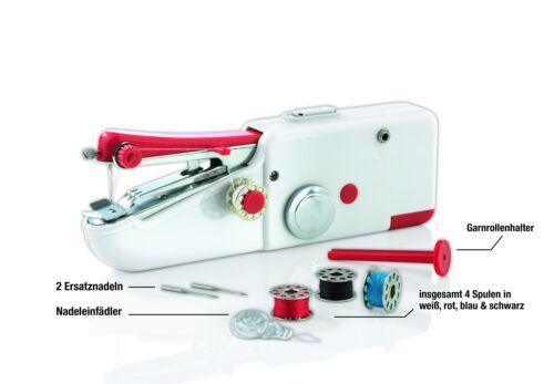 Máquina de coser eléctricas handnähmaschine mini portátiles reisenähmaschine easymaxx